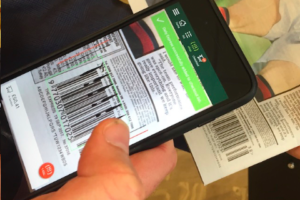 Ubamarket scanning newspaper barcode